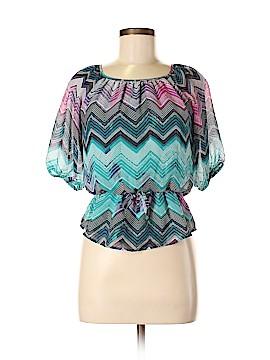 Speechless Short Sleeve Blouse Size L