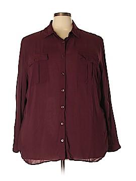 A.n.a. A New Approach Long Sleeve Button-Down Shirt Size 3X (Plus)