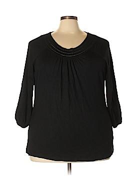 Lucy & Laurel 3/4 Sleeve Top Size 3X (Plus)