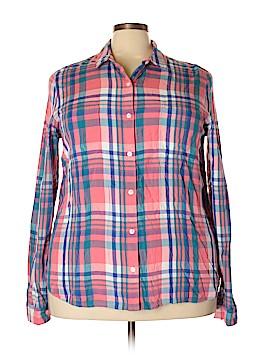 SO Long Sleeve Button-Down Shirt Size 2X (Plus)