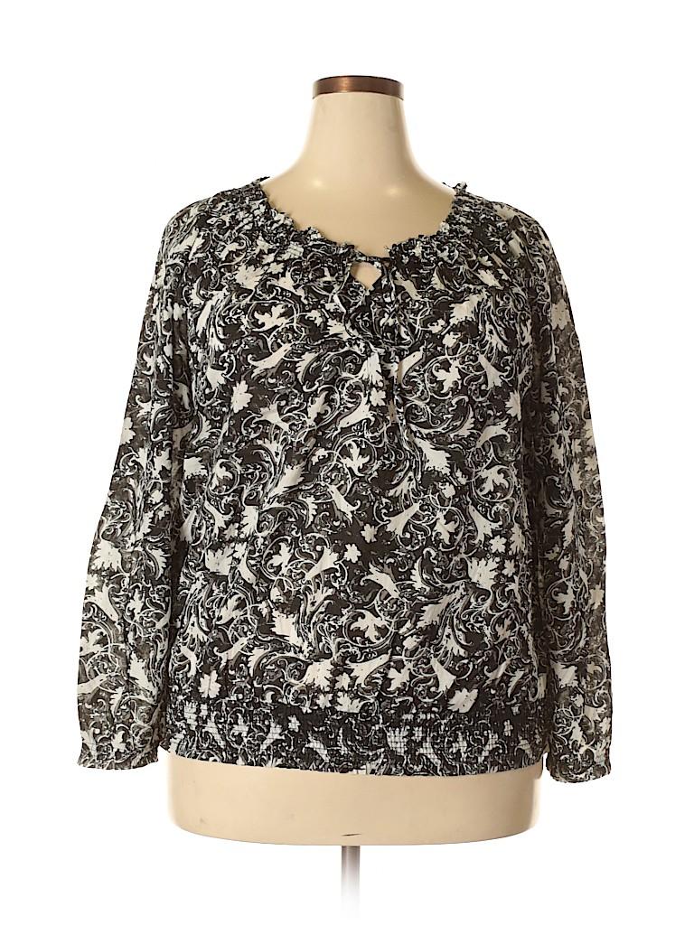 Merona Women 3/4 Sleeve Blouse Size 1