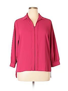 Tahari Long Sleeve Blouse Size L
