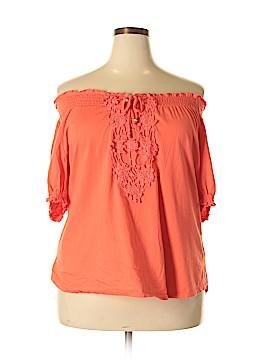 Rebecca Malone Short Sleeve Top Size 1X (Plus)