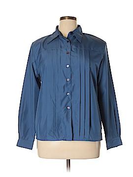 Liz Baker Essentials Long Sleeve Button-Down Shirt Size 16