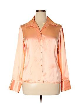 Worthington Long Sleeve Silk Top Size 14
