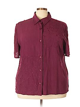 Fashion Bug Short Sleeve Button-Down Shirt Size 22 - 24 Plus (Plus)