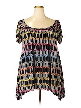 Rafaella Short Sleeve Top Size 2X (Plus)