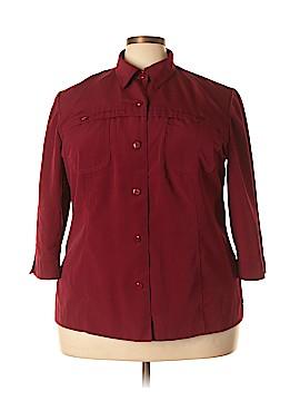 Sag Harbor 3/4 Sleeve Button-Down Shirt Size 24 (Plus)
