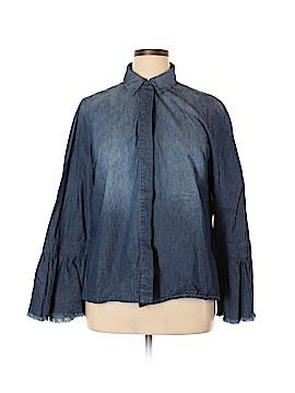Lane Bryant Long Sleeve Button-Down Shirt Size 14 (Plus)