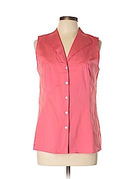 Lafayette 148 New York Sleeveless Button-Down Shirt Size 10