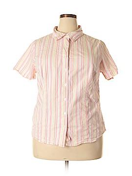 Bobbie Brooks Short Sleeve Button-Down Shirt Size 2X (Plus)