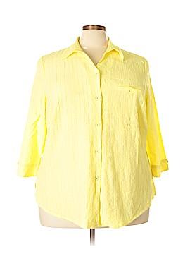 Allison Daley 3/4 Sleeve Button-Down Shirt Size 24 (Plus)