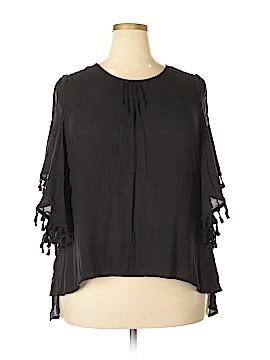 Seven7 Short Sleeve Blouse Size 1X (Plus)