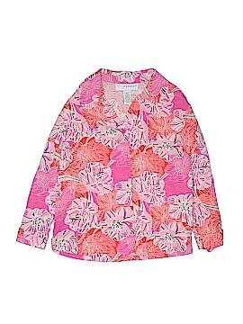 Sag Harbor 3/4 Sleeve Silk Top Size 14