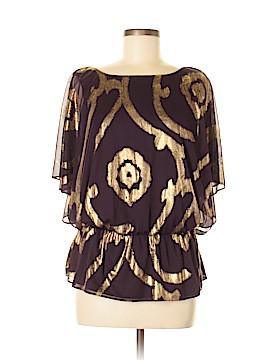 MSK Short Sleeve Blouse Size L