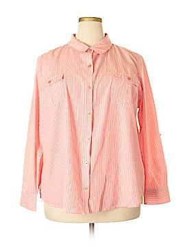 Laura Scott Long Sleeve Button-Down Shirt Size 20 - 22 (Plus)