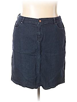 Lands' End Denim Skirt Size 20 (Plus)