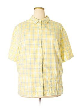 Liz & Me Short Sleeve Button-Down Shirt Size 30 - 32 Plus (Plus)