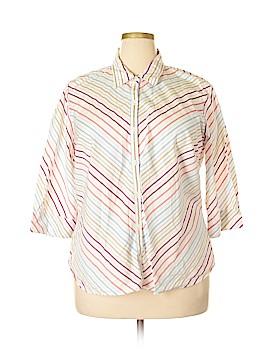 Carolina Colours 3/4 Sleeve Button-Down Shirt Size 18 - 20 Plus (Plus)