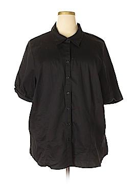 Lane Bryant Short Sleeve Button-Down Shirt Size 26 (Plus)