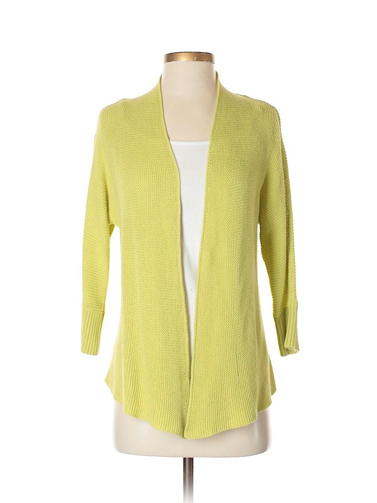 c4187c4703 Ann Taylor LOFT Outlet 100% Cotton Solid Light Green Cardigan Size S ...