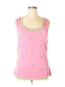 Quacker Factory Sleeveless Silk Top Size XL