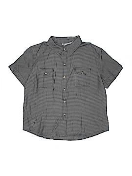 Apparenza Short Sleeve Button-Down Shirt Size 1X (Plus)
