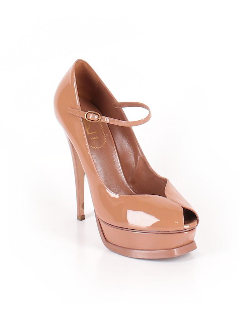 33f34de24ca Yves Saint Laurent 100% Leather Solid Tan Heels Size 40 (EU) - 76 ...
