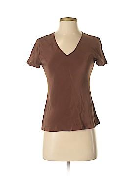 Donna Karan New York Short Sleeve Silk Top Size 2