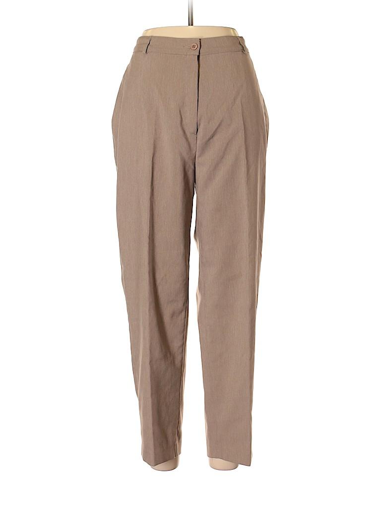 33b249b12d1 Kim Rogers Signature 100% Polyester Solid Tan Dress Pants Size 16 ...