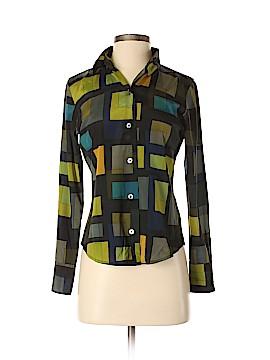 Linda Allard Ellen Tracy Long Sleeve Silk Top Size 2 (Petite)