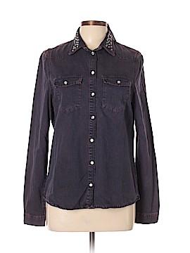 Topshop Long Sleeve Button-Down Shirt Size 10