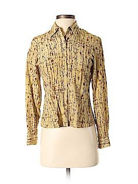 Rena Rowan Long Sleeve Silk Top Size 4 (Petite)