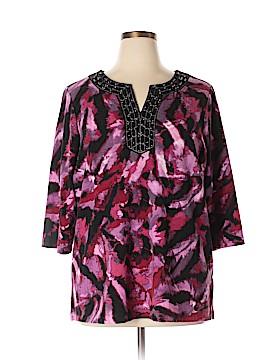 Dana Buchman 3/4 Sleeve Blouse Size 1X (Plus)