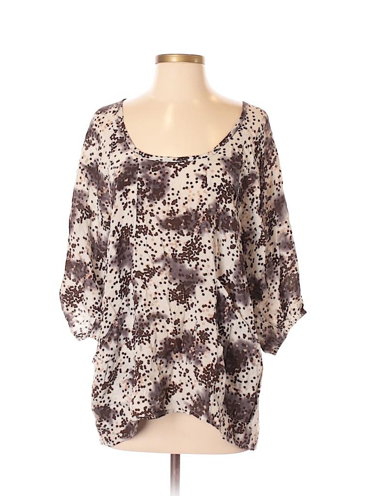 Patterson J. Kincaid Women 3/4 Sleeve Silk Top Size XS