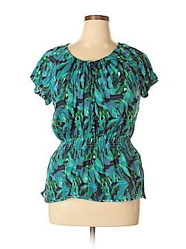 Allison Brittney Short Sleeve Blouse Size 1X (Plus)