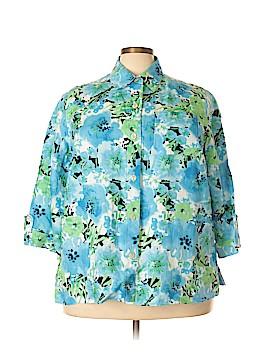 Jones New York Long Sleeve Button-Down Shirt Size 2X (Plus)