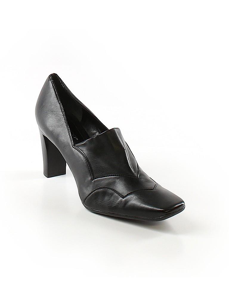 e0e102f3fba Franco Sarto Solid Black Heels Size 9 1 2 - 62% off