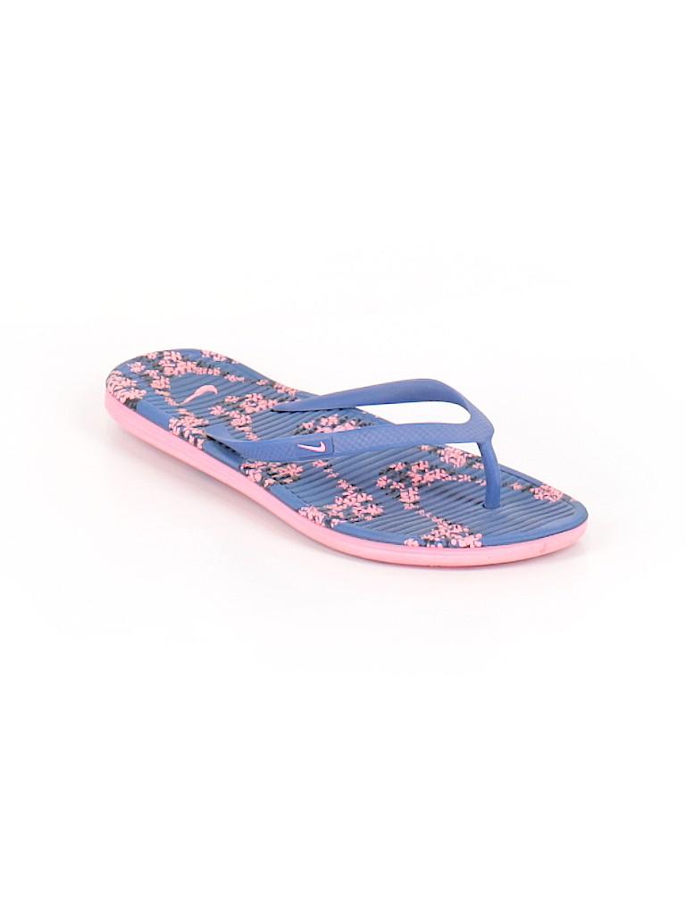 6e51cfe43b9c Nike Print Blue Flip Flops Size 9 - 65% off