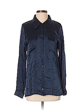 Gold Hawk Long Sleeve Silk Top Size S