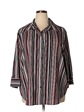 Fred David Long Sleeve Blouse Size 3X (Plus)