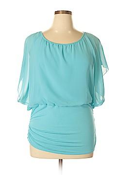 Impressions Short Sleeve Blouse Size 2X (Plus)