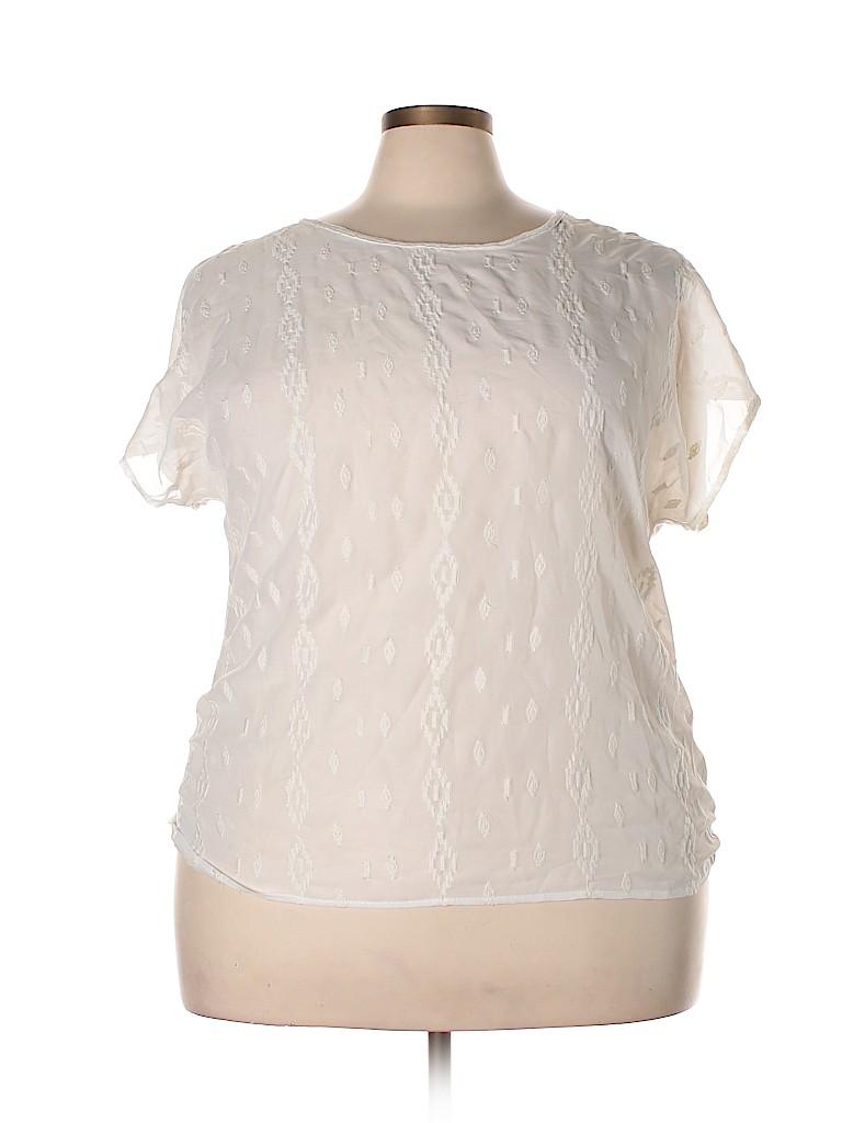 Daytrip Women Short Sleeve Blouse Size XXL
