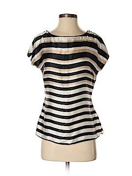 White House Black Market Short Sleeve Silk Top Size XS