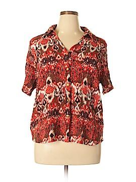 Koret Short Sleeve Button-Down Shirt Size 1X (Plus)