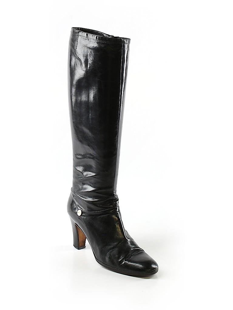 41917362d5c88 Salvatore Ferragamo 100% Leather Solid Black Boots Size 7 - 80% off ...