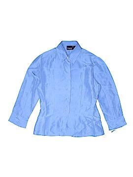 Hillard & Hanson Long Sleeve Silk Top Size XS