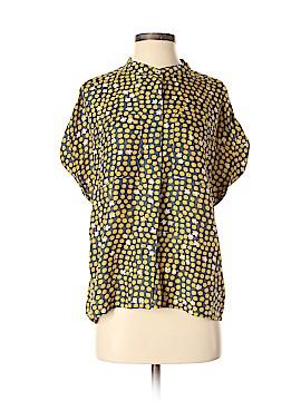 CAbi Short Sleeve Silk Top Size S