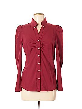 Allegra K Long Sleeve Button-Down Shirt Size M