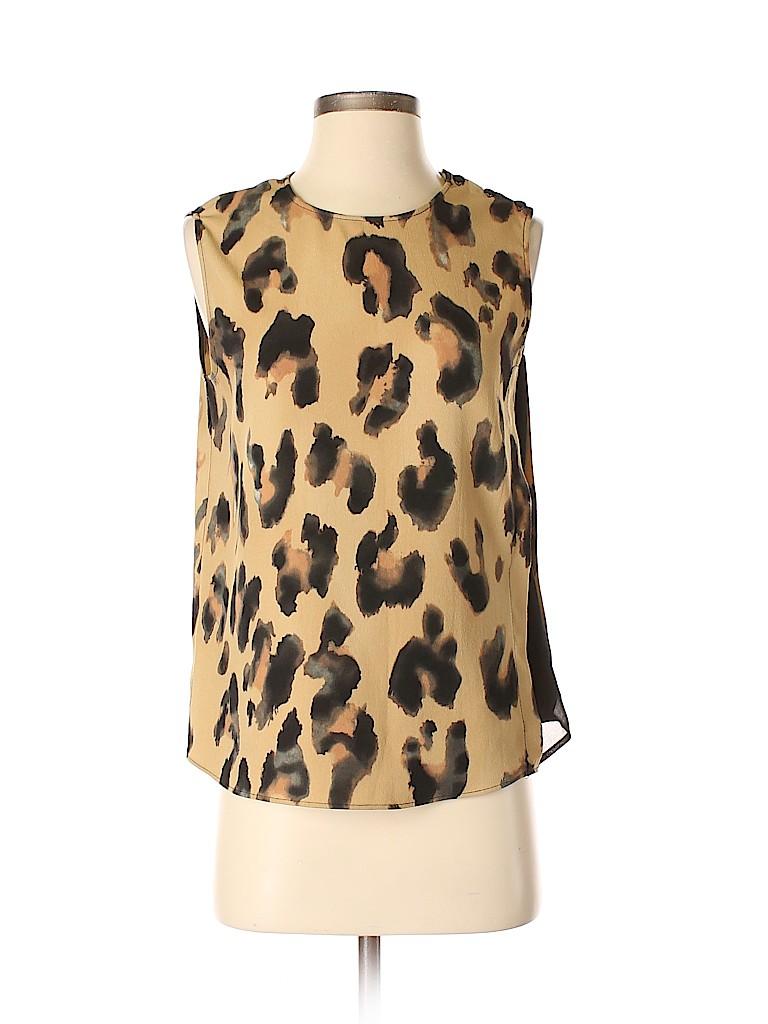 683334bd29ba Zara Basic Animal Print Tan Sleeveless Blouse Size S - 80% off | thredUP